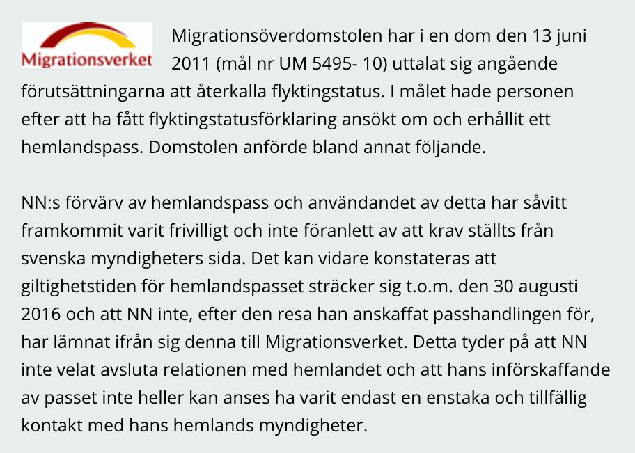 permanent uppehållstillstånd sverige migrationsverket