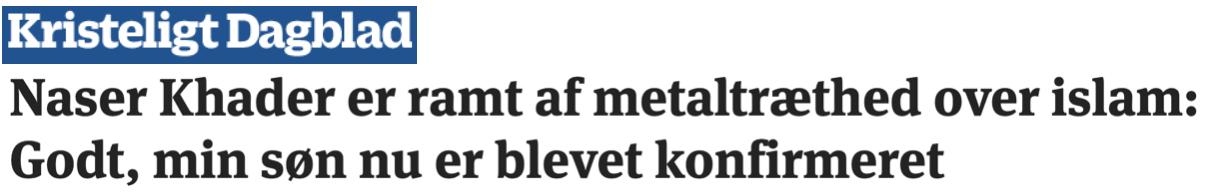 """Naser Khader: """"De danska judarna har assimilerats i det danska samhället, samtidigt som de bibehållit sin religion/kultur. Här kan muslimerna gott låta sig inspireras."""""""